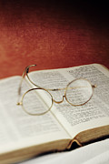 Bible Reading Prints - Glasses and Proverbs Print by Stephanie Frey