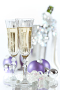 Champagne Glasses Posters - Glasses Of Champagne Poster by Christopher and Amanda Elwell