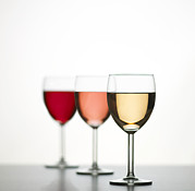 Wines Photos - Glasses Of Wine by Mark Sykes