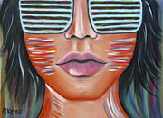 Make-up Pastels Posters - Glasses on my Face Poster by Valentina Kross