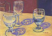 Glasses Pastels - Glasslights by Sharon E Allen