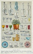 Decanters Photo Posters - Glassware, Historical Artwork Poster by Mid-manhattan Picture Collectionglassnew York Public Library