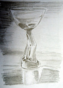 Wine Drawings - Glassware by Pauline Sz
