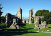Churches Prints - Glastonbury Abbey 1 Print by Kurt Van Wagner