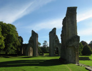 King Arthur Posters - Glastonbury Abbey 3 Poster by Kurt Van Wagner