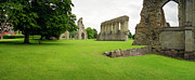 Cathedral Ruins Posters - Glastonbury Abbey Ruins Poster by Jan Faul