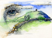 Tor Originals - Glastonbury Tor and Eye by John D Benson