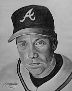 Atlanta Braves Drawings - Glavine by Ryan Fritz