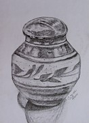 Caddy Painting Prints - Glazed Tea Caddy Print by Caroline Street