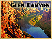 Glen Canyon Prints - Glen Canyon Colorado River Print by Vintage Poster Designs