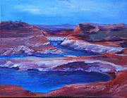 Donna Pierce-clark Art - GLEN CANYON DAM Arizona by Donna Pierce-Clark