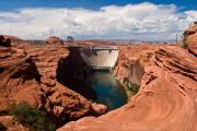 Glen Canyon Prints - Glen Canyon Dam Print by James Marvin Phelps