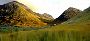 Hand Painted Digital Art - Glen Coe by James Shepherd