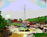 By Charles Shoup Mixed Media - Glen Echo Park by Charles Shoup