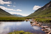Stepping Stones Posters - Glen Etive Poster by Sam Smith