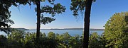 Inspiration Point Posters - Glen Lake from inspiration Point Poster by Twenty Two North Gallery