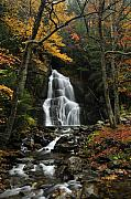 Vermont Fall Foliage Framed Prints - Glen Moss Falls Framed Print by Mandy Wiltse