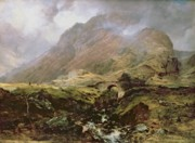 Ravine Framed Prints - Glencoe Framed Print by Horatio McCulloch