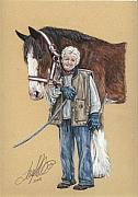 Equestrian Pastels - Glenda and Tess by Terry Kirkland Cook