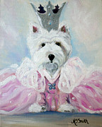 Westie Pup Framed Prints - Glenda the Good Pup Framed Print by Mary Sparrow Smith