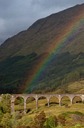 Aerial Posters - Glenfinnan Viaduct Poster by  Alexander W Helin