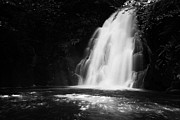 Green Movement Metal Prints - Gleno or Glenoe Waterfall county antrim northern ireland Metal Print by Joe Fox