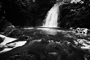 Green Movement Metal Prints - Gleno or Glenoe Waterfall county antrim northern ireland uk Metal Print by Joe Fox