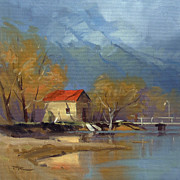 Shed Painting Prints - Glenorchy Print by Richard Robinson