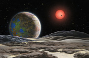 Airbrush Prints - Gliese 581 c Print by Lynette Cook