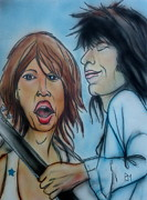 Rock And Roll Mixed Media Originals - Glimmer Twins II by Pete Maier