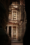 Petra Metal Prints - Glimpse Of Treasury Metal Print by David Lazar