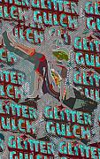 Glitter Gulch Posters - Glitter gulch cowgirl Poster by David Lee Thompson