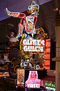 Freemont Framed Prints - Glitter Gulch Las Vegas Framed Print by Bob Christopher