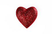 No Love Posters - Glittery heart on white background Poster by Sami Sarkis
