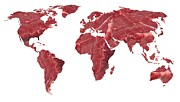 Consumption Prints - Global Meat Eating, Conceptual Artwork Print by Victor De Schwanberg