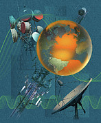 Global Digital Art - Global Microwave Communications by Bryce Flynn