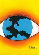 Herold Alvares Paintings - Global Sight by Herold Alvares