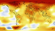 Earth Map Prints - Global Temperature Anomalies 2006-2010 Print by Nasagoddard Space Flight Center Svs