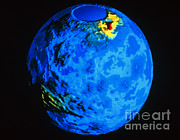 Ishtar Photos - Global Topographic Map Of Venus by NASA / Science Source