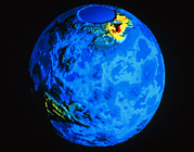 Ishtar Photos - Global Topographic Map Of Venus by Nasa
