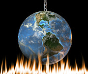 Warming Up Prints - Global Warming, Conceptual Artwork Print by Friedrich Saurer
