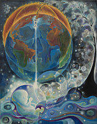 Globe Painting Originals - Global Warming by Manami Yagashiro