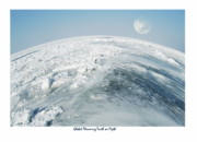 Ice-covered Prints - Global Warning Truth or Myth Print by Michael Peychich