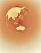 Vertical Digital Art - Globe Of Eastern Hemisphere by Jason Reed