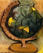 Earth Map Paintings - Globe by Tommervik