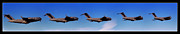 Air Force Print Art - Globemaster Flyby by Ricky Barnard