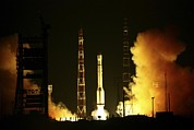 Take Time Framed Prints - Glonass Satellite Launch, 2010 Framed Print by Ria Novosti