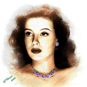 Silver Screen Legend Prints - Gloria DeHaven Print by Arne Hansen