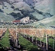 Landscaping Paintings - Gloria Ferrer Winery- Sonoma Ca by Andrew Drozdowicz