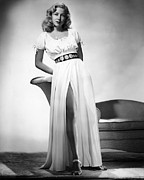 Slit Dress Framed Prints - Gloria Grahame, 1946 Framed Print by Everett